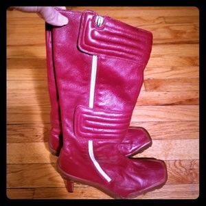 Diesel Red Boots with Heel